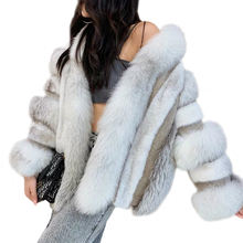 2019 Lad Woman Coat Real Fox Fur Mink Fur Luxury Style Female Overcoat Genuine Natural Mink Fur Coat