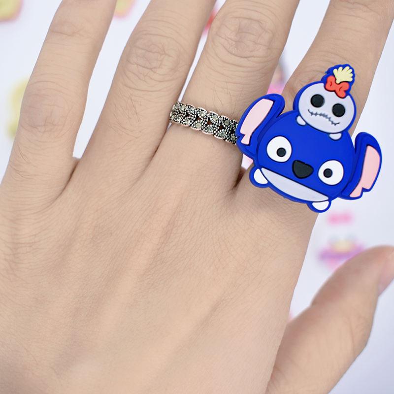 Kids Promotion Gift Rubber Finger Ring Wholesale Child Ring