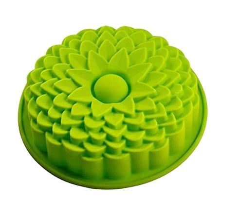 Amazon hot sale Product Beautiful cheap Chrysanthemum Shape Silicone Cake Mold 3D Handmade Cupcake Baking Tools