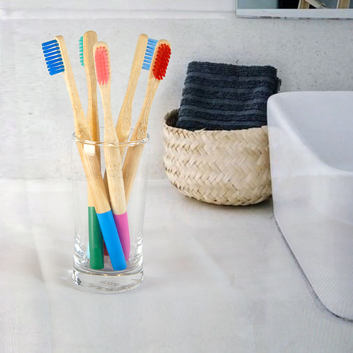 FDA Approved Eco- friendly Charcoal Bristles OEM Bamboo Toothbrush with Customized Packing and Logo