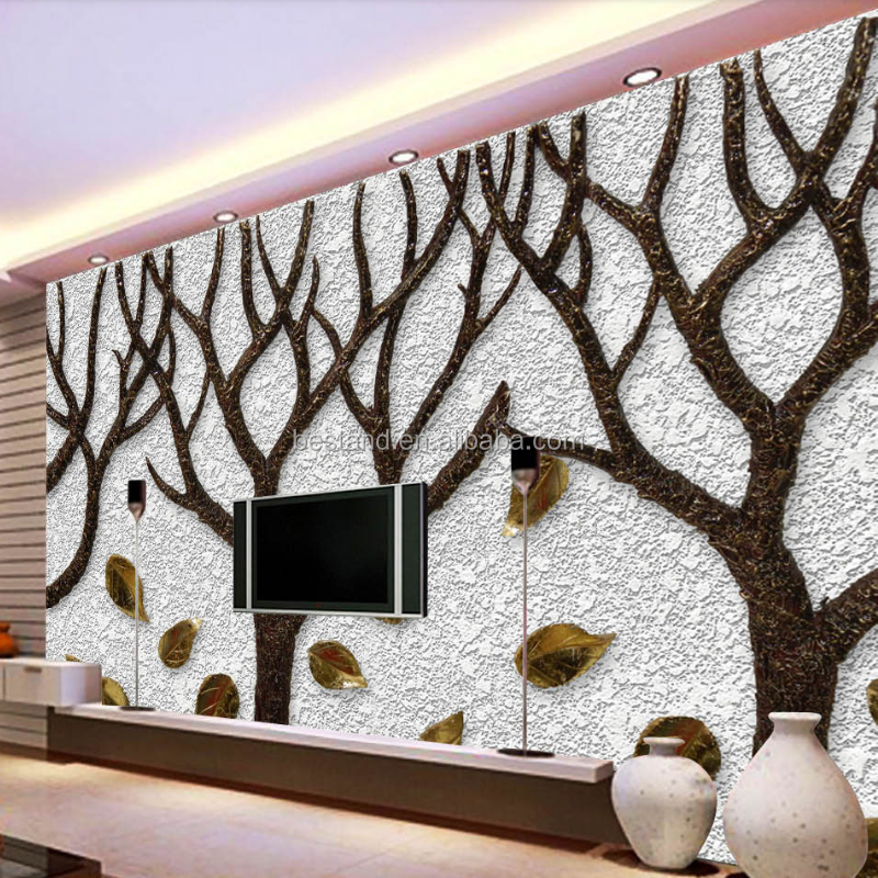 Chinese wholesale 3d 5d 8d printing mural wallpaper home decoration wall panel