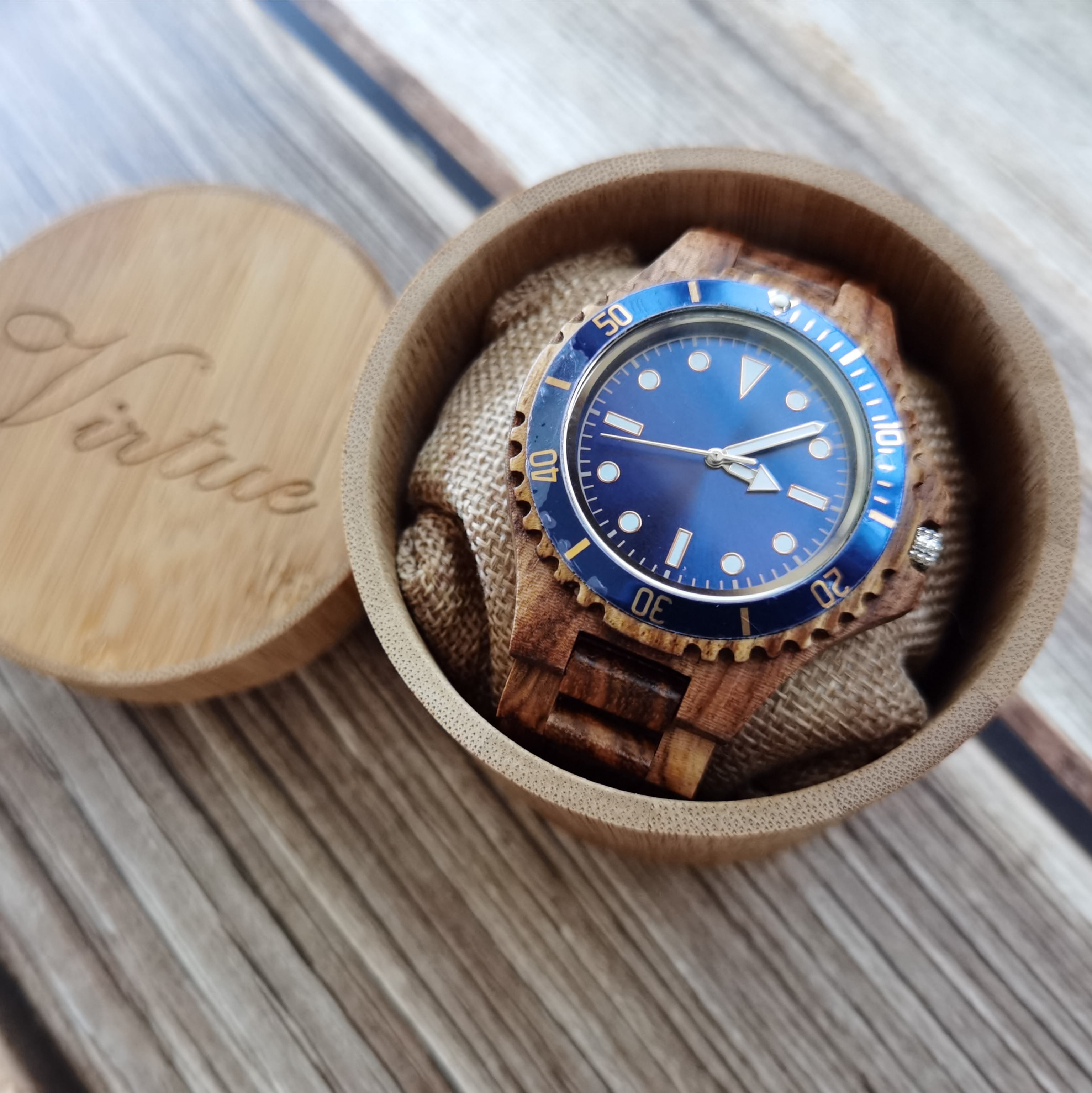 China hot sales quartz luxury low MOQ watch minimalist custom logo label man black sanders wood wristwatches
