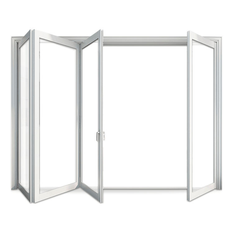 New design Patio garden exterior aluminum frame double glass bifold/bi-fold/bifolding doors