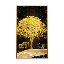 3D Flower Tree Custom Painting Abstract Picture Crystal Porcelain Painting for Home Decor Metal Art