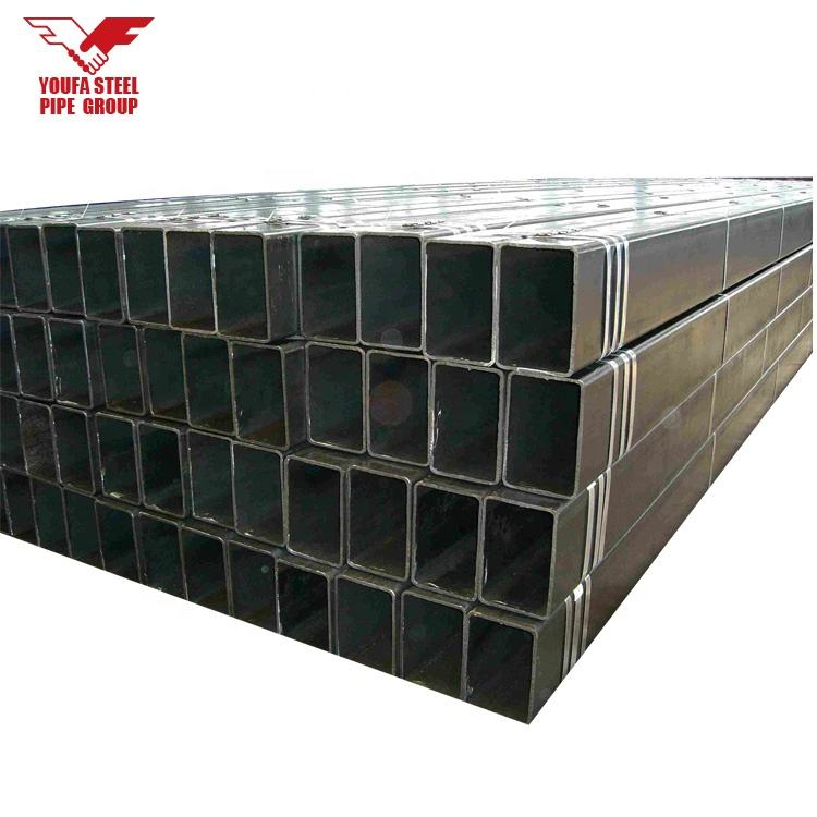 Hot sale EN10219 rectangular hollow section 1x1 square steel tubing for fence pipe