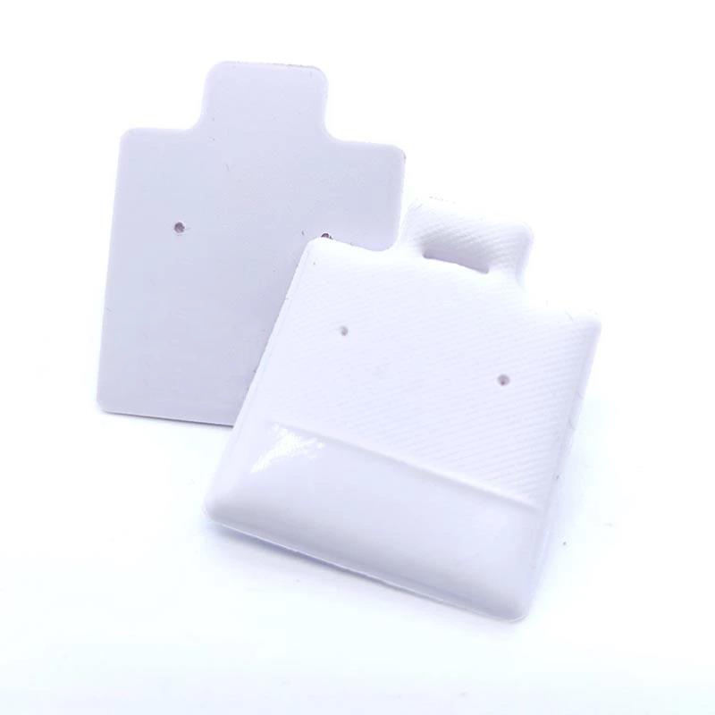 Putih Display Perhiasan Puff Pad Stand Anting Anting Plastik PVC Tempat Perhiasan