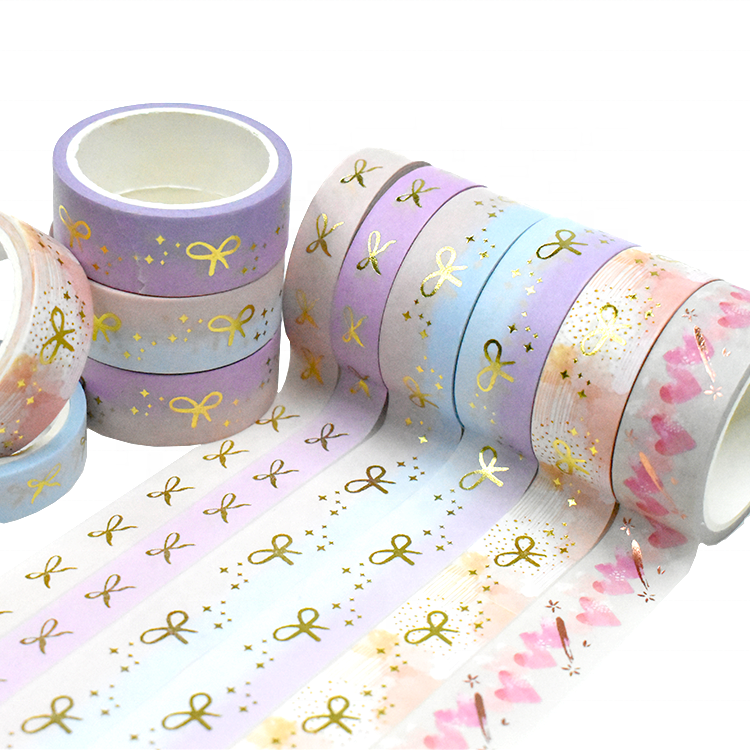 Adhesive Custom Make Craft Paper Dot Decorative Color Washi Sticky Tape