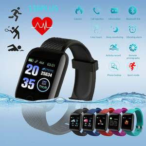 1.3 inch color screen waterproof smart watch 116 plus sport smart bracelet fitness tracker heart rate and blood pressure