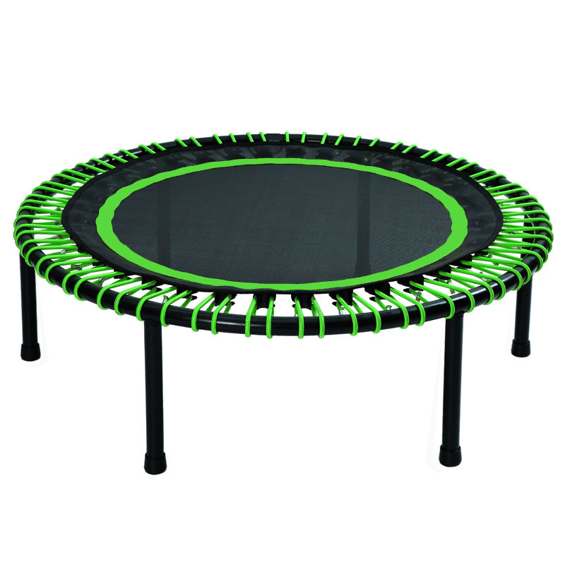 Spring free mini trampoline rebounder for home and gym fitness