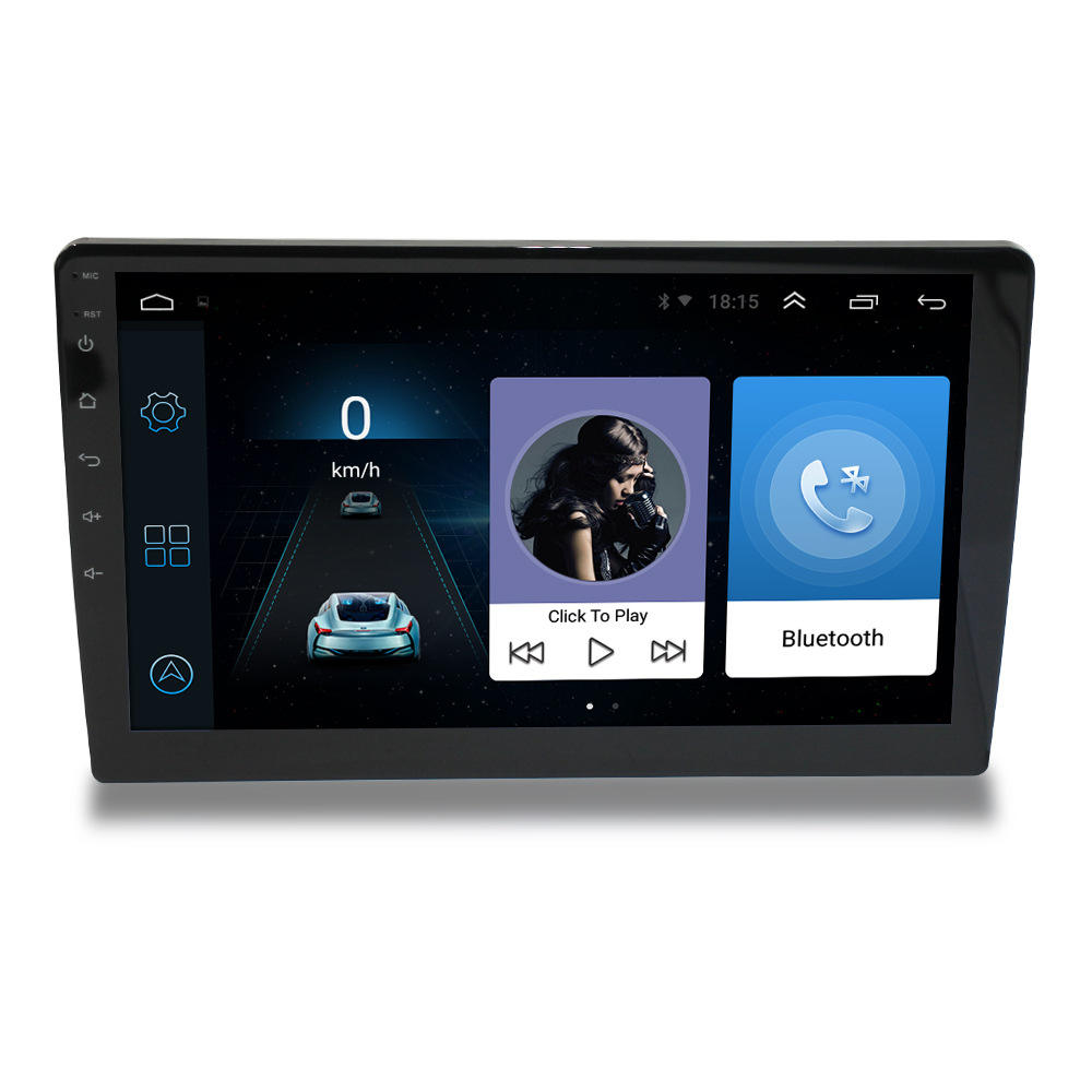 Voller Touchscreen 9 Zoll Universal Android Auto Stereo Video Autoradio Android GPS Doppel 2din mit WIFI BT FM USB