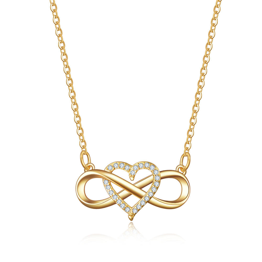Mia 2021 Moederdag Valentijnsdag Hanger <span class=keywords><strong>Ketting</strong></span> Eindeloze Liefde Zirkoon Rose Gold Plated <span class=keywords><strong>Ketting</strong></span>
