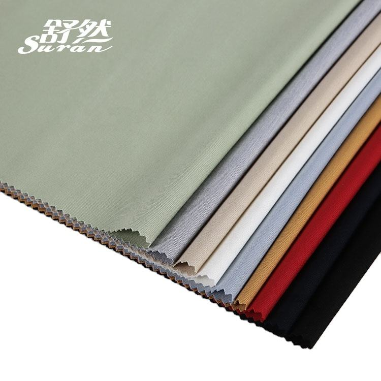 Hot sell multi-color breathable warp plain dyed lenzing viscose knitting polyester fabric