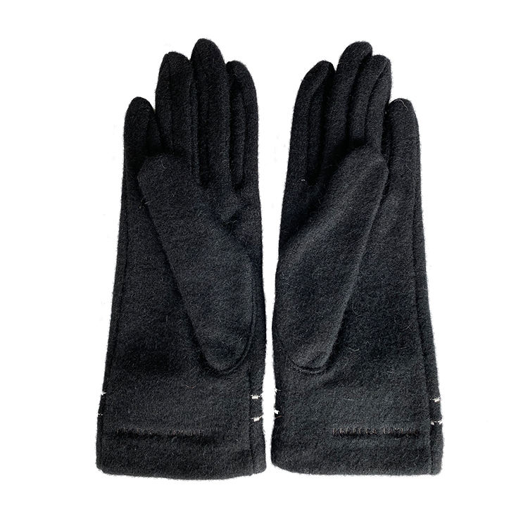 dresses women sexy hand black knitted wool gloves dot for winter