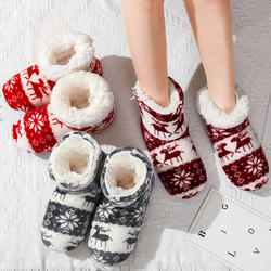Women Winter House Shoes Ladies Ankle Boots Christmas Indoor