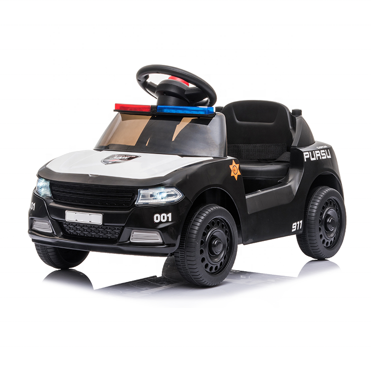 Gifts kids wholesale fashion police electric baby toy child 6v ride on cars cheap baby car