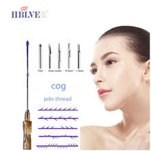 medical absorbable blunt l type needle 3d pdo cog thread  for cheek skin care