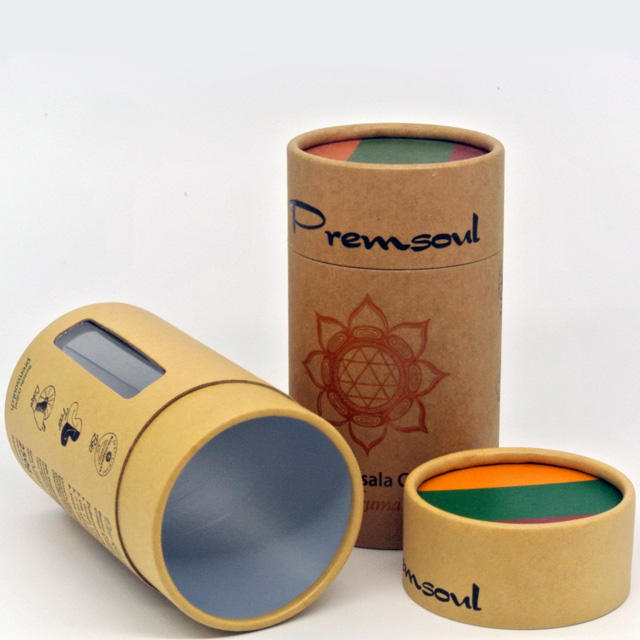 Can be customized environmental degradation kraft tea paper tube packaging