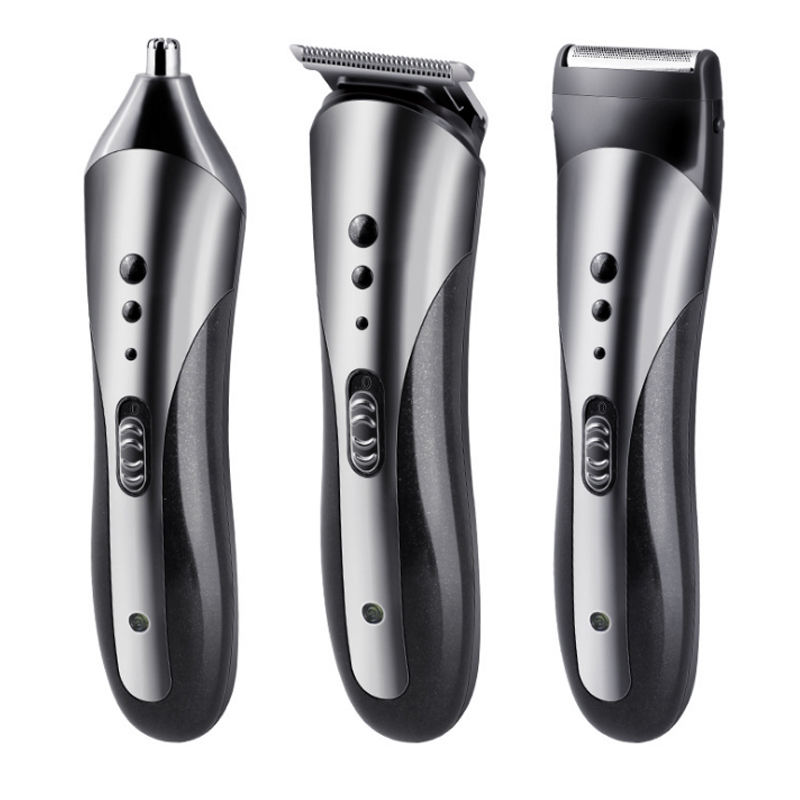 kemei electric hair clipper KM-1407 razor shaver nose trimmer 3 in 1multi-function head washable hair trimmer