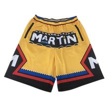 Custom number name summer fitness zipper basketball shorts with pockets