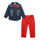2020 new arrival children boys clothes sets denim jacket+ pants 2 pcs boy's suit children long sleeve denim jeans pants