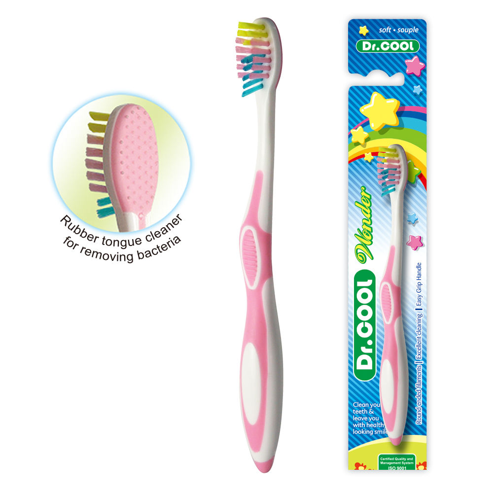 New children and kids toothbrush with soft bristles & comfortable and safe grip