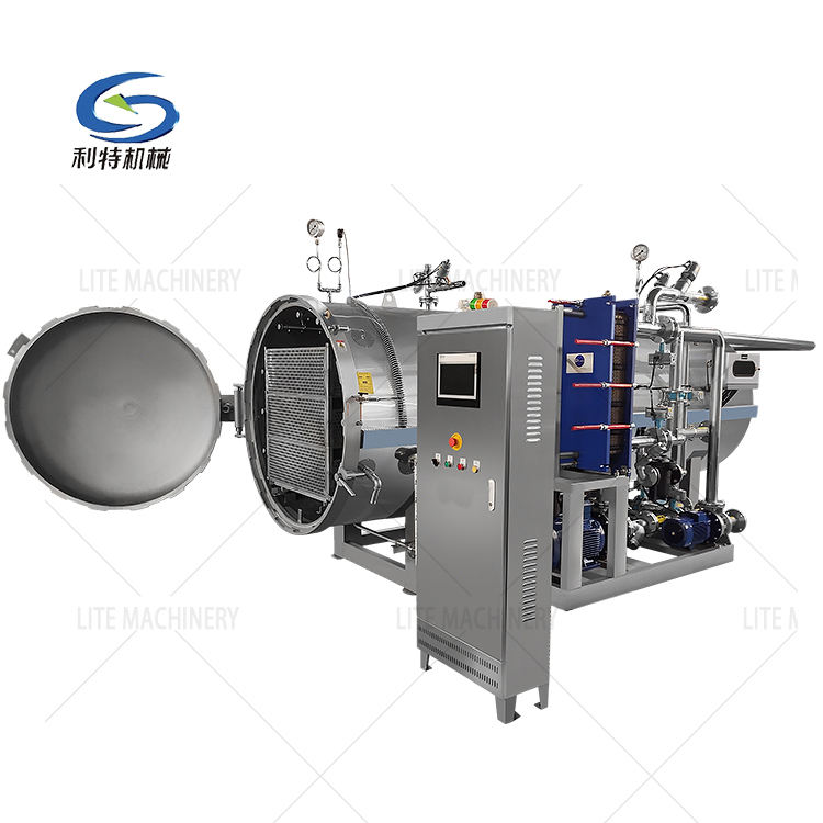 Automatic high pressure food processing equipment water spray sterilizer/pouch food sterilizer retort