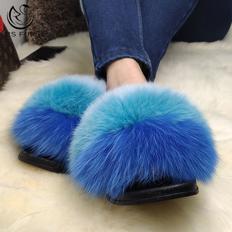 Factory direct sale customer colour popular hot pink slip on fur lined slippers