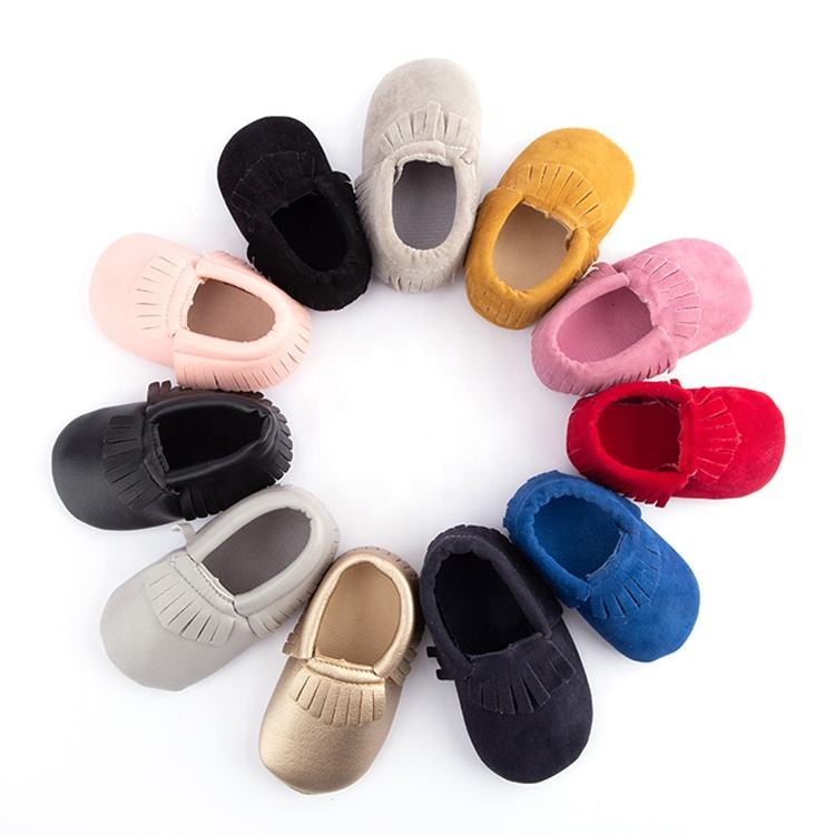 Ready to ship hot selling Christmas Baby Shoes Baby Moccasins