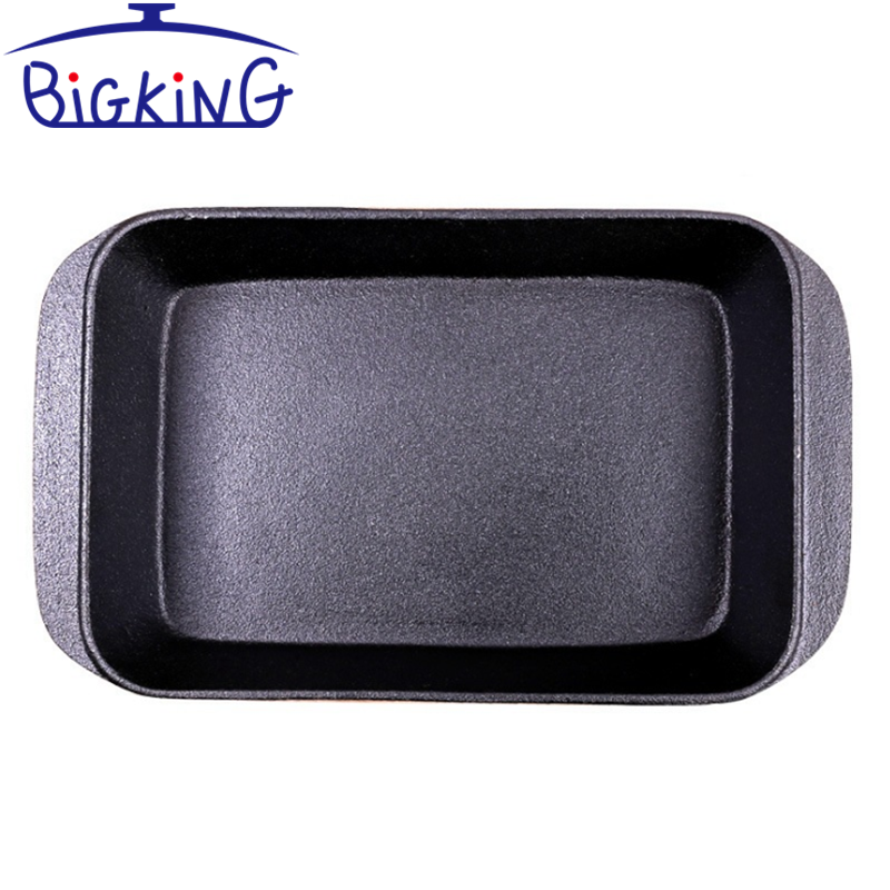 Wholesale Non-stick Rectangular Casserole Dish Cast Iron Baking Pan With Lid