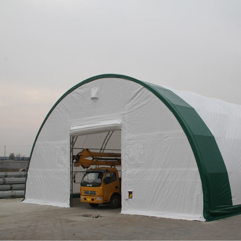 hot galvanized Double Truss Frame Agricultural Big Dome Warehouse Storage Building with size custom