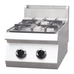 Commercial kitchenware stainless steel gas style table top  2 burners