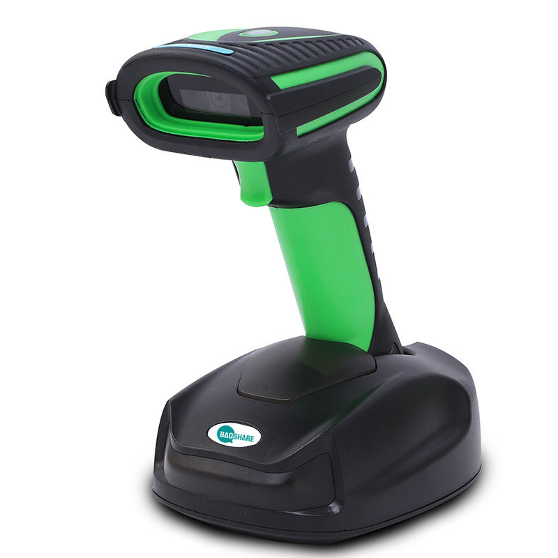 High speed industrial oilproof QR Code reader 2.4G Wireless Barcode Scanner with charging base for logistic WE35D