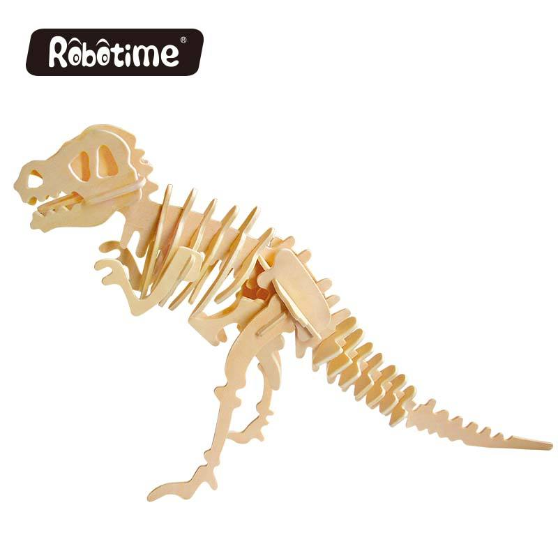 Factory DIY Assembled Intelligence Toys 3D Kids Dinosaur Puzzle