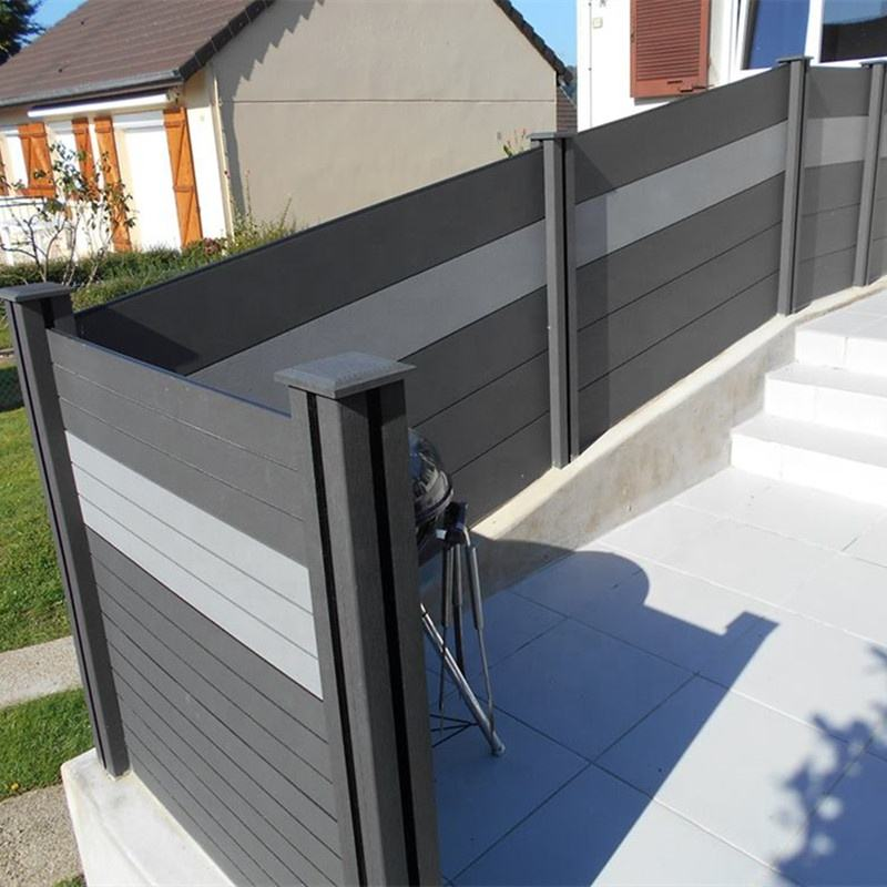 Customized size and Black color privacy WPC fence for outdoor,WPC decking for garden.