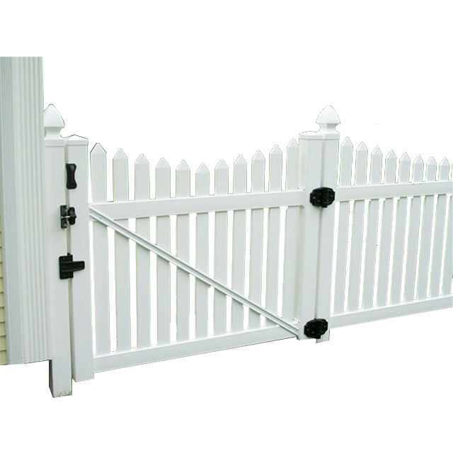 The original factory produces UV resistant and easy to assemble Hot sales house gates design garden vinyl fence gate