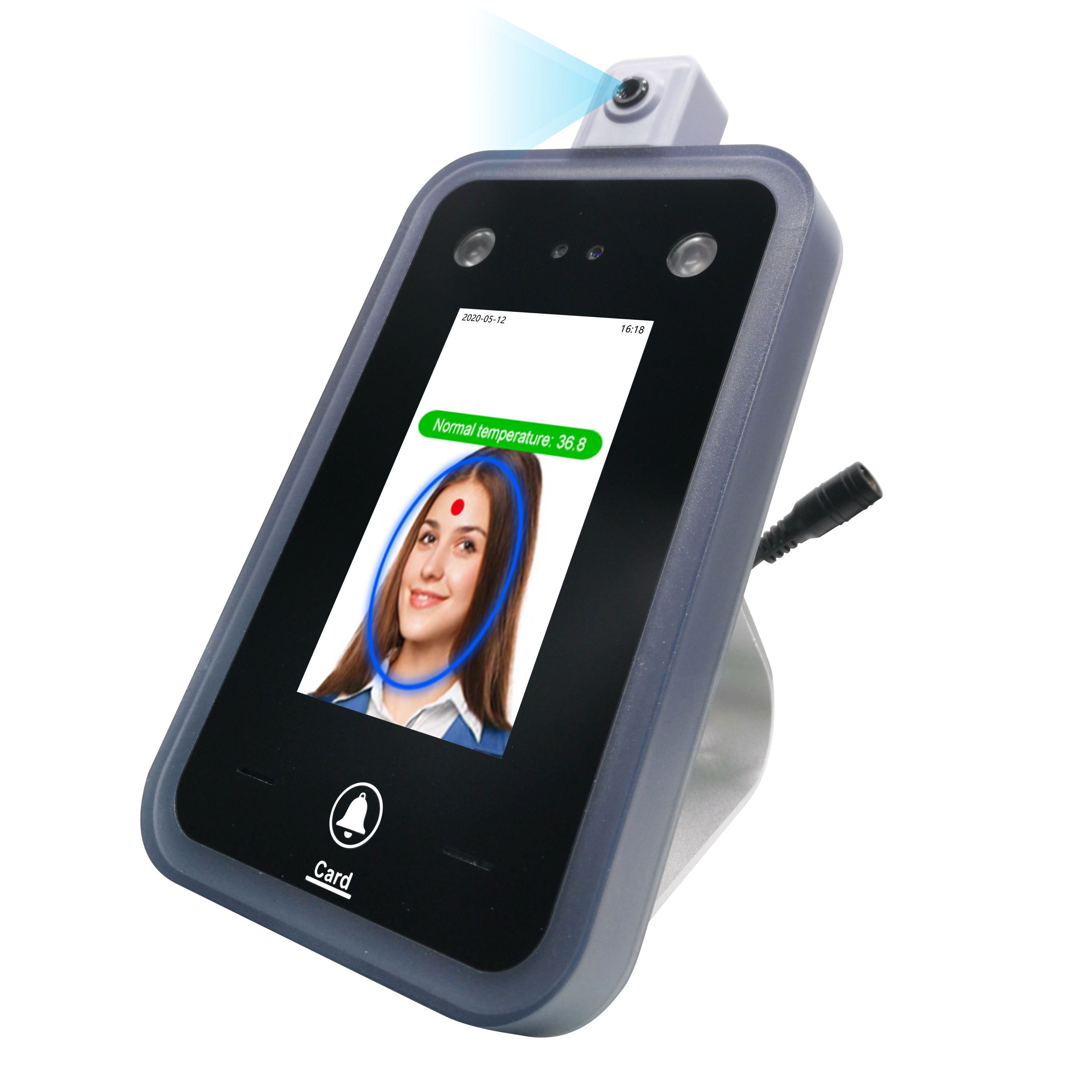 New arrival cheap face recognition infrared thermal temperature measure tool attendance system