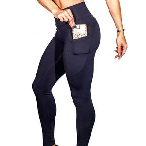 Womens Athletic Apparel Factory Direct Supply High Waist Tight Yoga Pants with Pocket leggings