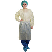 Blue Waterproof Medical protective gowns disposable aprons with sleeves