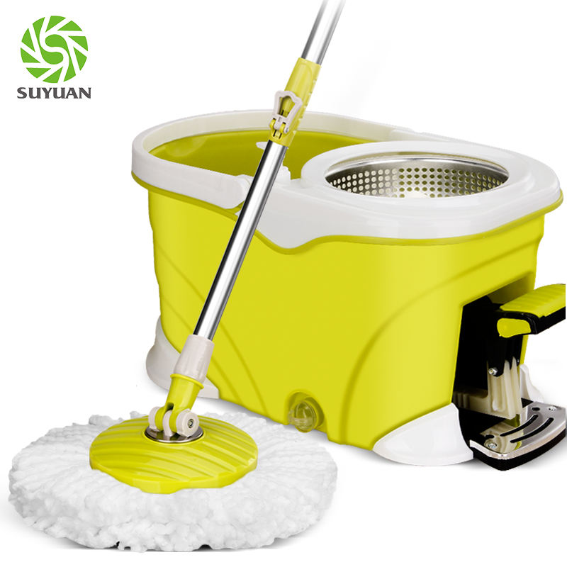 Bluetooth music with bucket set broom with bucket chenille flat mop