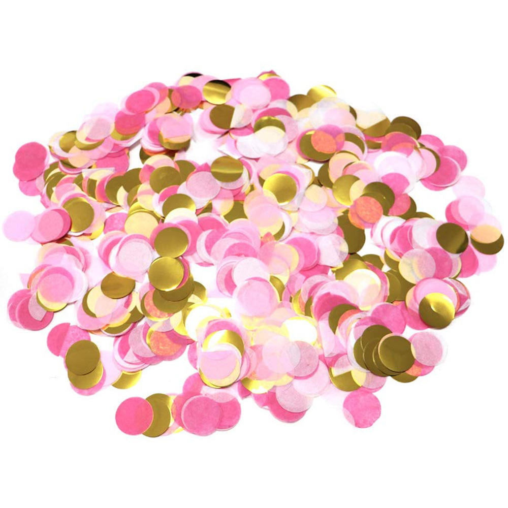 5000 Pieces Paper Table Confetti Circles, Party Confetti Dots for Wedding, Holiday, Anniversary, Birthday 1 Inch