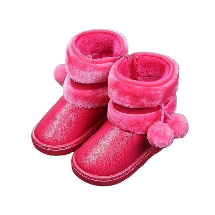 2020 hot sale waterproof 060 new winter warm ankle cotton shoes for kids snow boots boy