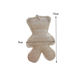 Natural beauty loofah with cotton rope round shape loofah pad bath mat