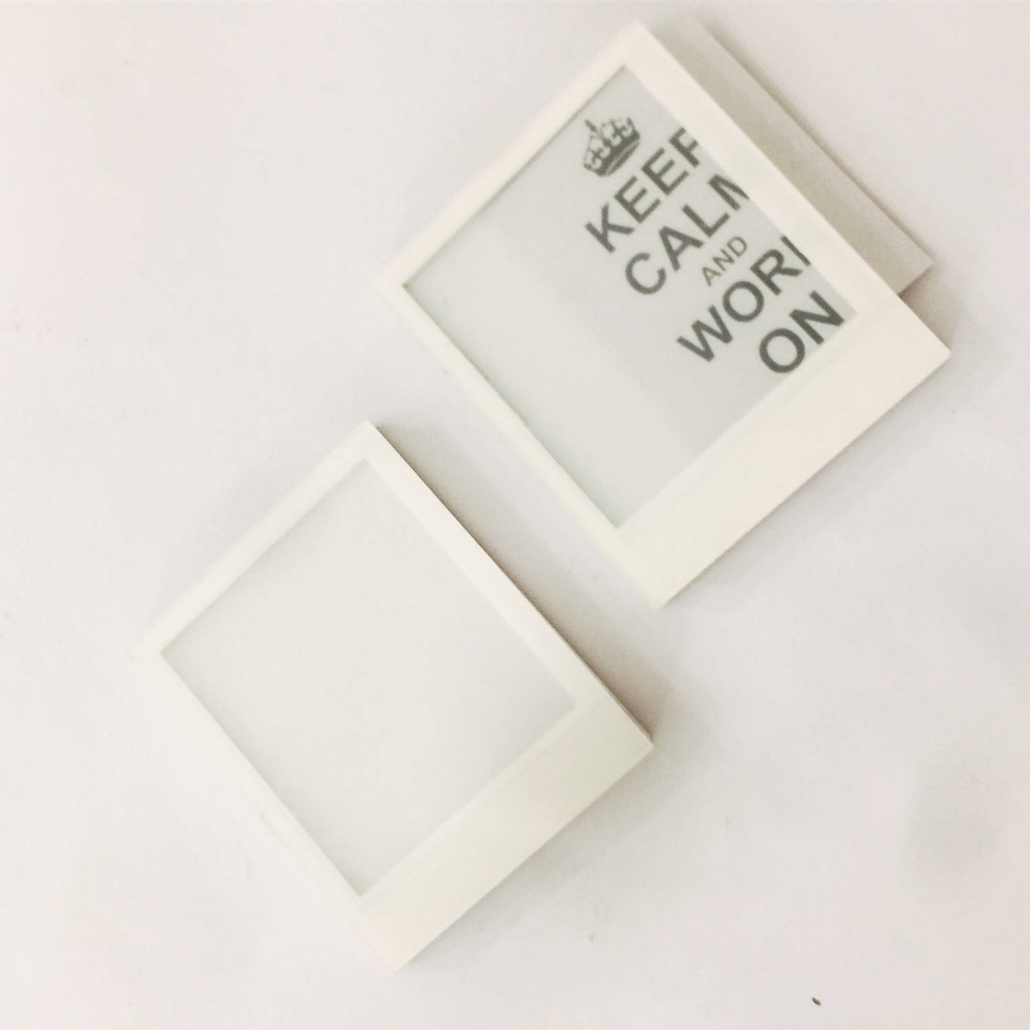 Factory direct sell DIY white acrylic photo frame fridge magnet