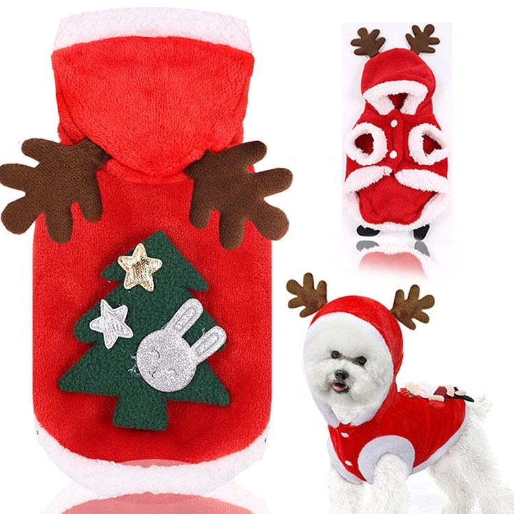 Dog clothes winter christmas holiday large dog clothes hat fashions pet clothes