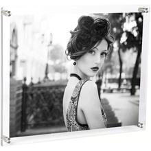 Acrylic Wall Mount Photo Frame  Clear Floating Frame for Document Certificate Artwork