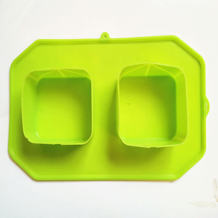 Custom silicone pudding food serving collapsible dog bowl dog food plate
