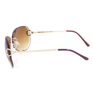 Good Price Fashion Style Rimless Tawny Sunglasses Unisex