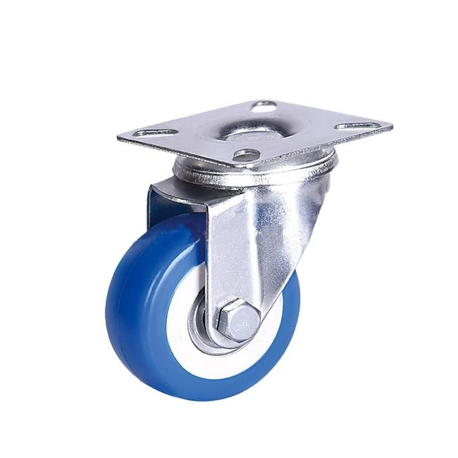 2inch/50mm Blue Light Duty Gray Rubber PVC kitchen stem caster wheels Caster , flight case caster wheels