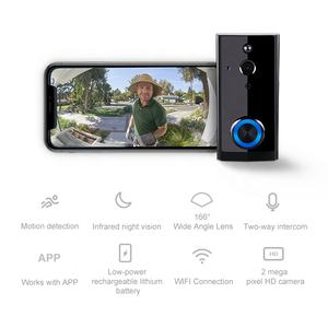 Smart WIFI Video Bel Villa Tahan Air Video Intercom Pintu Sistem Telepon Ring Video Doorbell 2