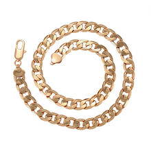 4215746125 Xuping fashion jewelry necklace chain, 18K gold plated mens chain african necklace